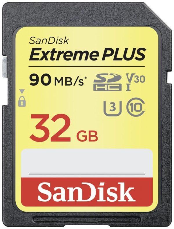 Карта памяти SanDisk Extreme Plus V30 SDHC UHS-I U3 [Extreme Plus V30 2-pack SDHC UHS-I U3 32Gb]