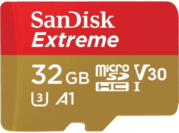 Карта памяти SanDisk Extreme V30 A1 microSDHC UHS-I U3 [Extreme V30 A1 microSDHC UHS-I U3 32Gb]