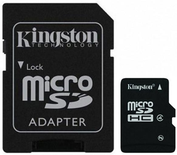 Карта памяти Kingston microSDHC Class 4 [microSDHC Class 4 4Gb]