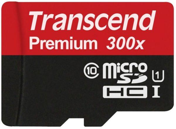 Карта памяти Transcend Premium 300X microSDHC UHS-I [Premium 300X microSDHC UHS-I 32Gb]
