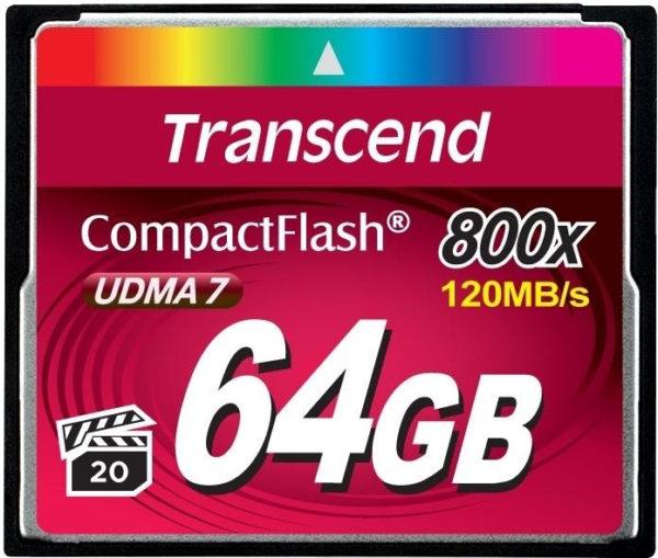 Карта памяти Transcend CompactFlash 800x [CompactFlash 800x 64Gb]