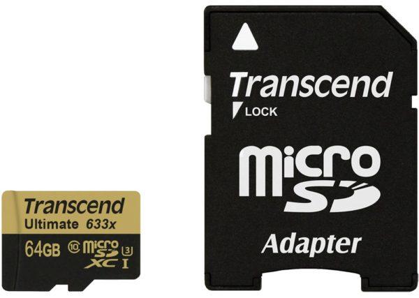 Карта памяти Transcend Ultimate 633x microSDXC Class 10 UHS-I U3 [Ultimate 633x microSDXC Class 10 UHS-I U3 64Gb]
