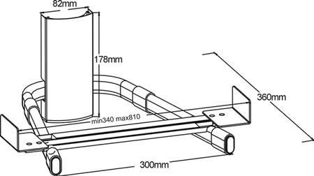 Подставка/крепление ARM MEDIA DVD-3