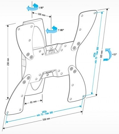 Подставка/крепление Holder LCDS-5019