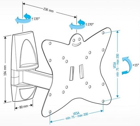 Подставка/крепление Holder LCDS-5037