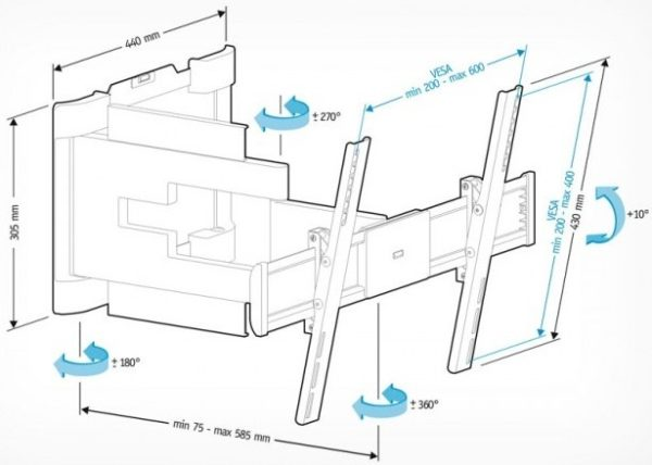 Подставка/крепление Holder LEDS-7025