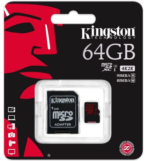 Карта памяти Kingston microSDXC UHS-I U3 [microSDXC UHS-I U3 128Gb]