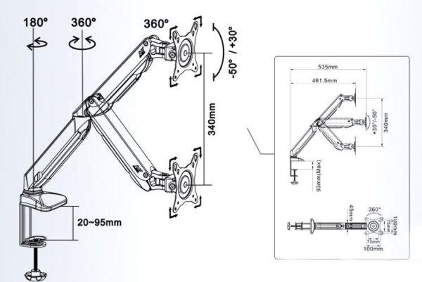 Подставка/крепление NB F100