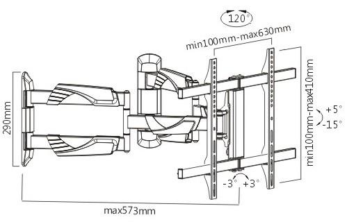 Подставка/крепление Brateck LPA39-466C
