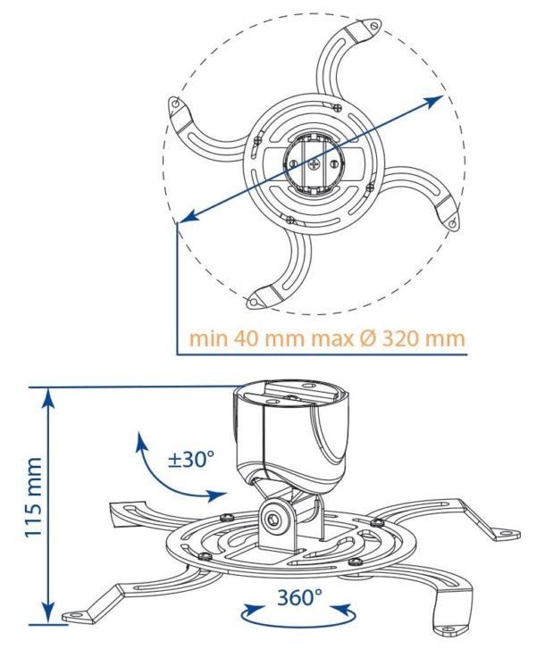 Крепление для проектора Kromax PROJECTOR-40