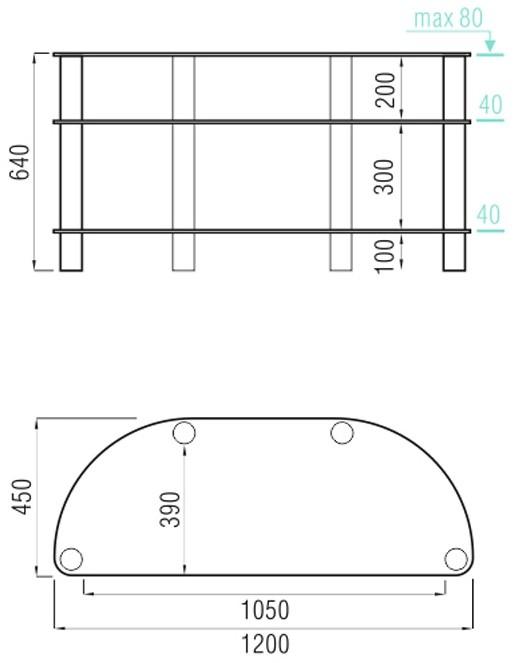 Подставка/крепление Metal Design MD 403