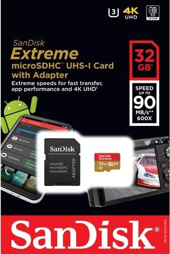 Карта памяти SanDisk Extreme V30 microSDHC UHS-I U3 [Extreme V30 microSDHC UHS-I U3 32Gb]