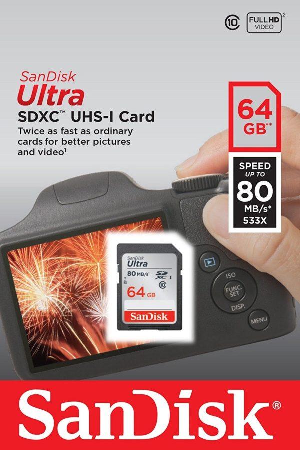 Карта памяти SanDisk Ultra SDXC UHS-I 533x Class 10 [Ultra SDXC UHS-I 533x Class 10 128Gb]
