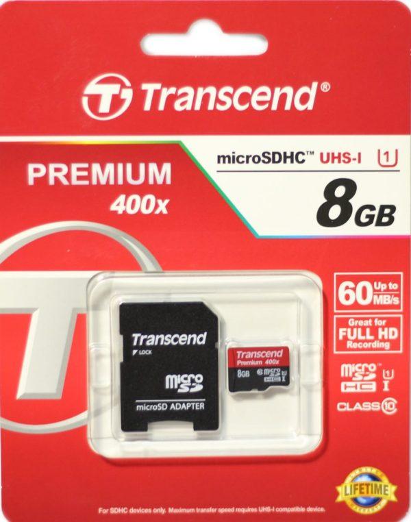 Карта памяти Transcend Premium 400X microSDHC UHS-I [Premium 400X microSDHC UHS-I 8Gb]