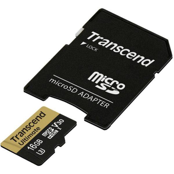 Карта памяти Transcend Ultimate V30 microSDHC Class 10 UHS-I U3 [Ultimate V30 microSDHC Class 10 UHS-I U3 32Gb]