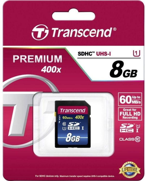 Карта памяти Transcend Premium 400x SDHC Class 10 UHS-I [Premium 400x SDHC Class 10 UHS-I 8Gb]