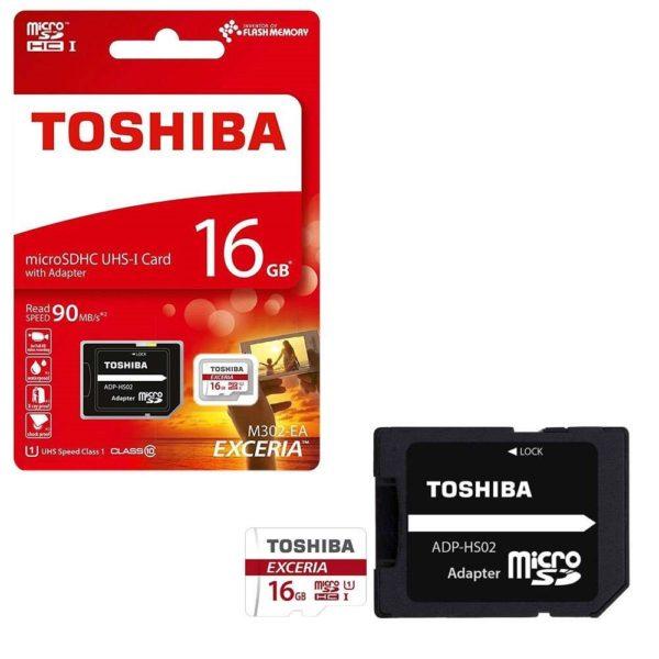 Карта памяти Toshiba Exceria M302 microSDHC UHS-I U1 [Exceria M302 microSDHC UHS-I U1 16Gb]