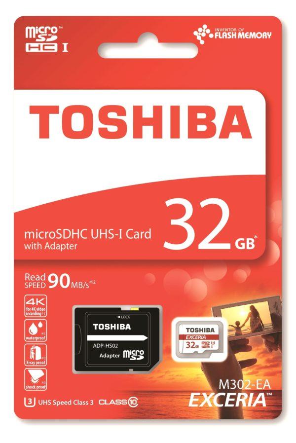 Карта памяти Toshiba Exceria M302 microSDHC UHS-I U3 [Exceria M302 microSDHC UHS-I U3 32Gb]