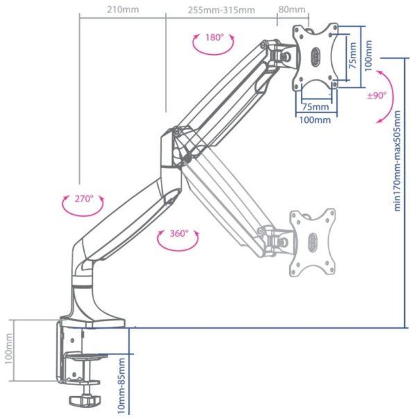 Подставка/крепление ARM MEDIA LCD-T31