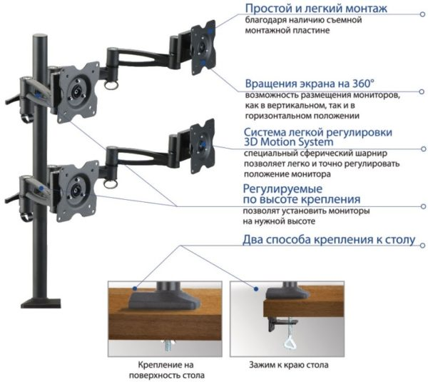Подставка/крепление Kromax OFFICE-4