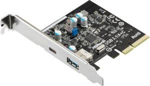 PCI контроллер ASRock USB 3.1/A+C