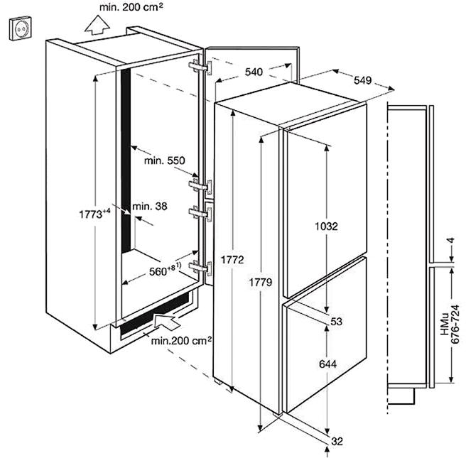 Встраиваемый холодильник Electrolux ENN 2901