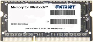 Оперативная память Patriot Memory for Ultrabook DDR3 [PSD38G1600L2S]