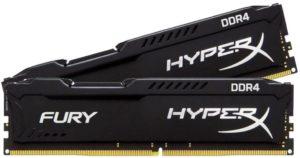 Оперативная память Kingston HyperX Fury DDR4 [HX424C15FBK4/16]