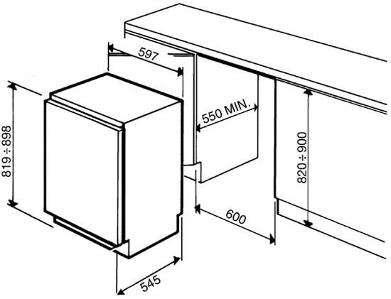 Встраиваемая морозильная камера Smeg VI 100P1